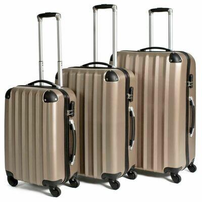 3-delni komplet trdih potovalnih kovčkov – več barv