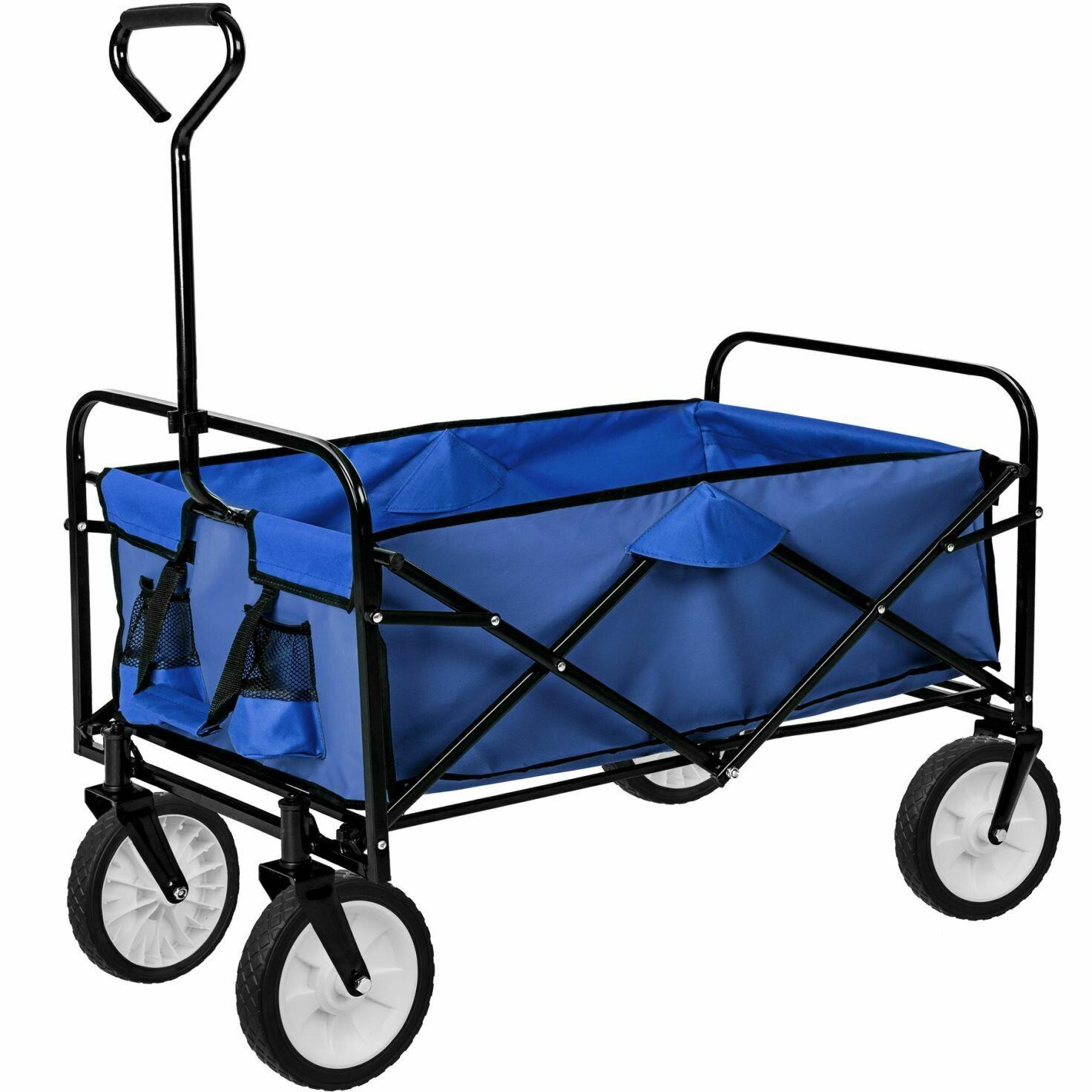 Zložljiv transportni voziček - do 80 kg – ZELEN, MODER, RDEČ