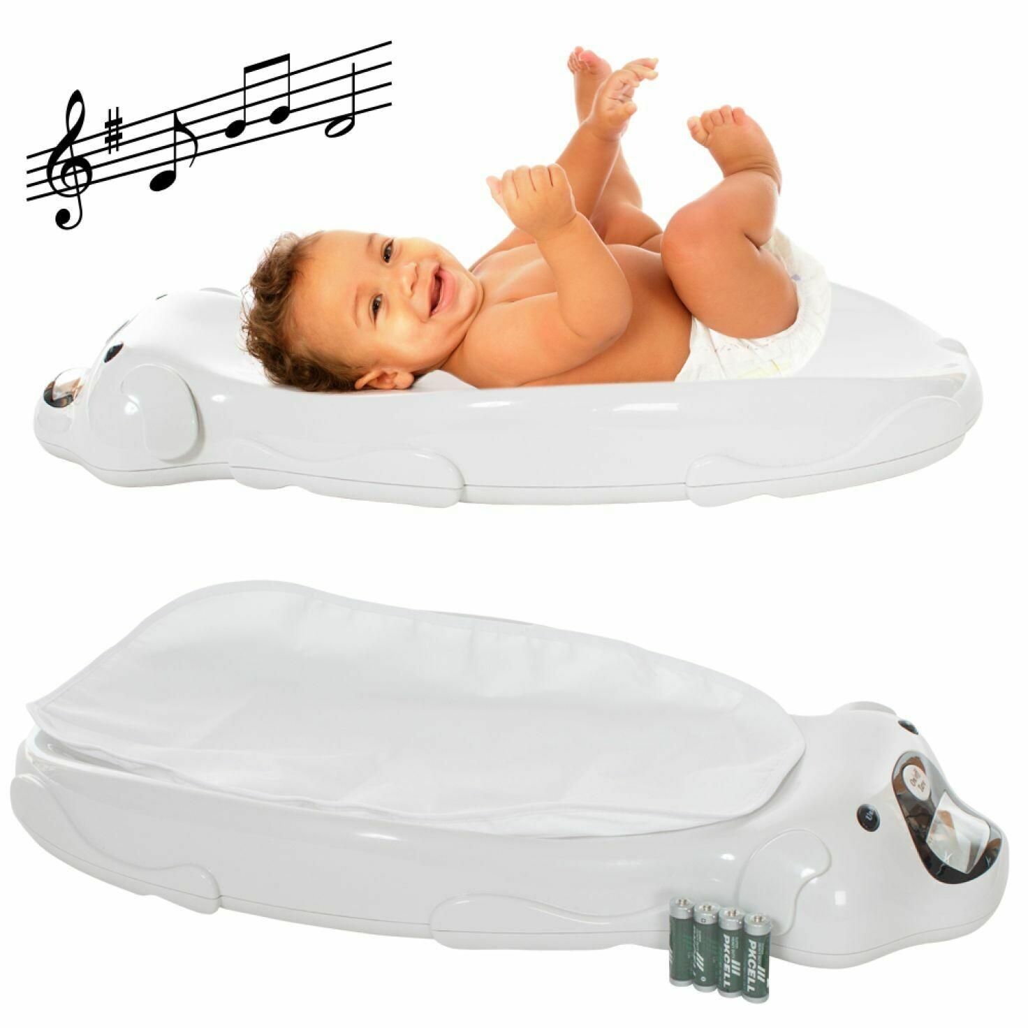 Otroška TEHTNICA, Elektronska TEHTNICA za dojenčke z glasbo, podlogo in dostavo