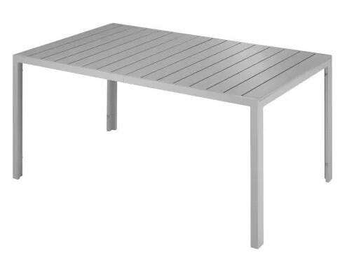 Vrtna miza Simona srebrna/antrazit