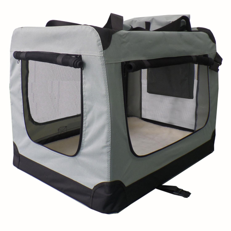 Zložljiva Transportna torba za prevoz psov Lassie M  - SIVA ali BEIGE