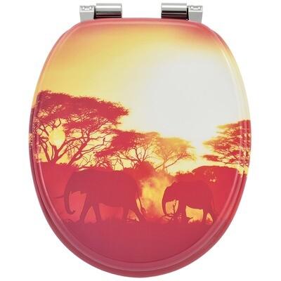 MODEL AFRIKA - POKROV za WC školjko iz MDF s samodejnim spuščanjem