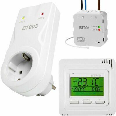 Daljinski termostat za vtičnico ali prikrit