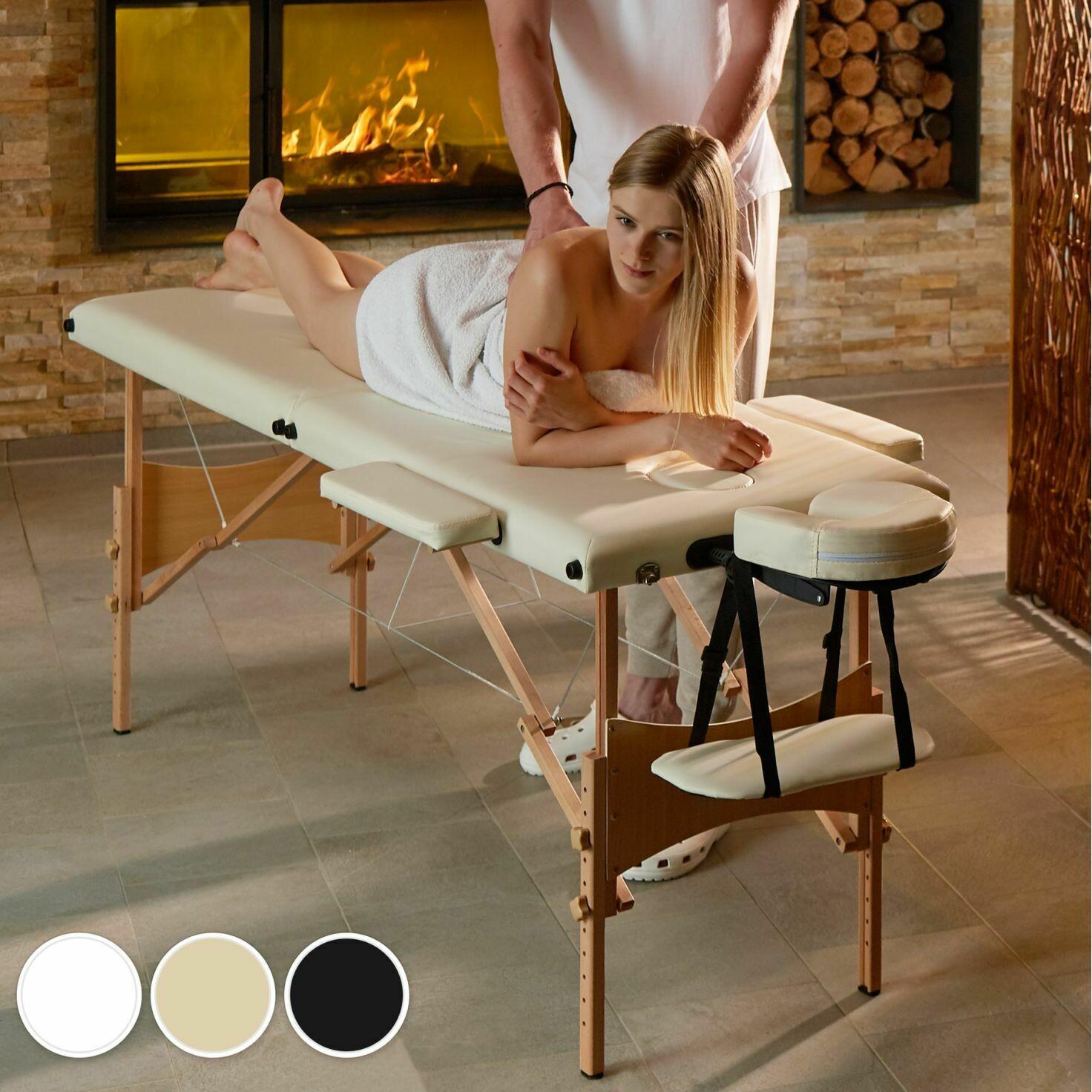 Masažna miza LES 2 conska - 3 barve