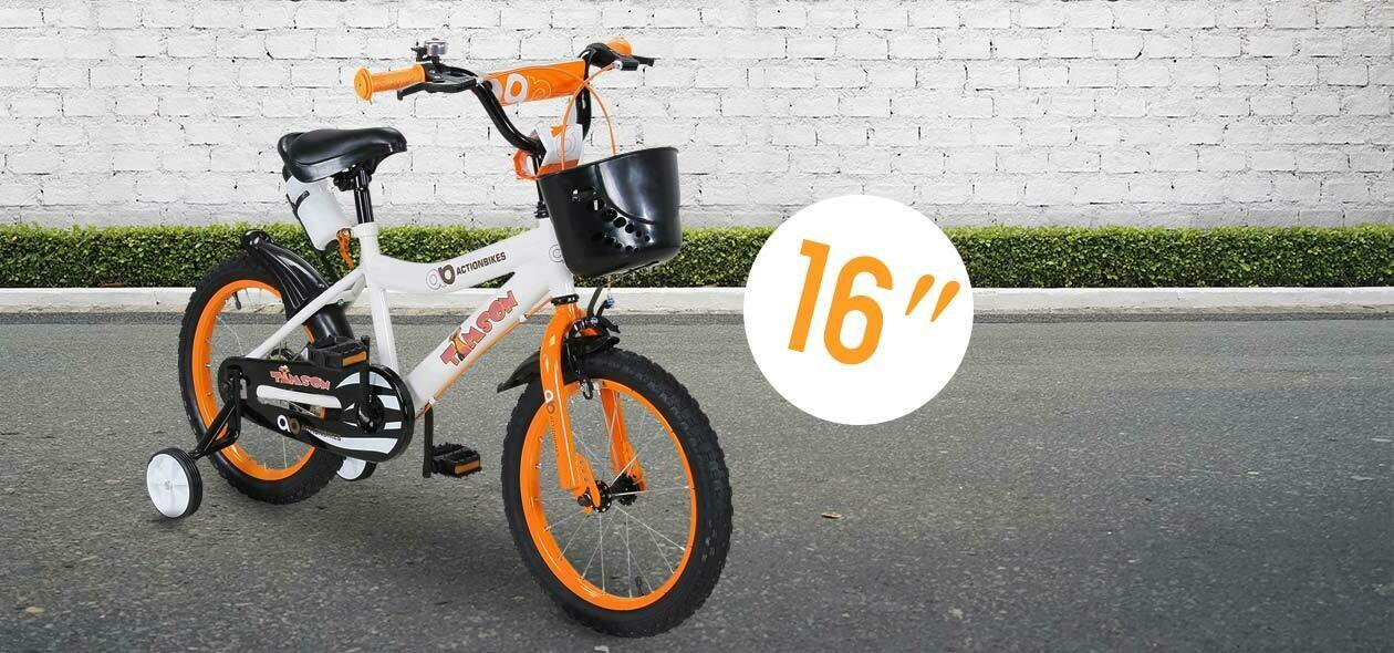 Actionbikes otroško kolo TIM- ORANŽNA- 16 palčna kolesa