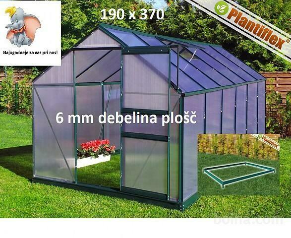 Plantiflex® Rastlinjak-190 x 370cm -  ZELEN 6mm plošče