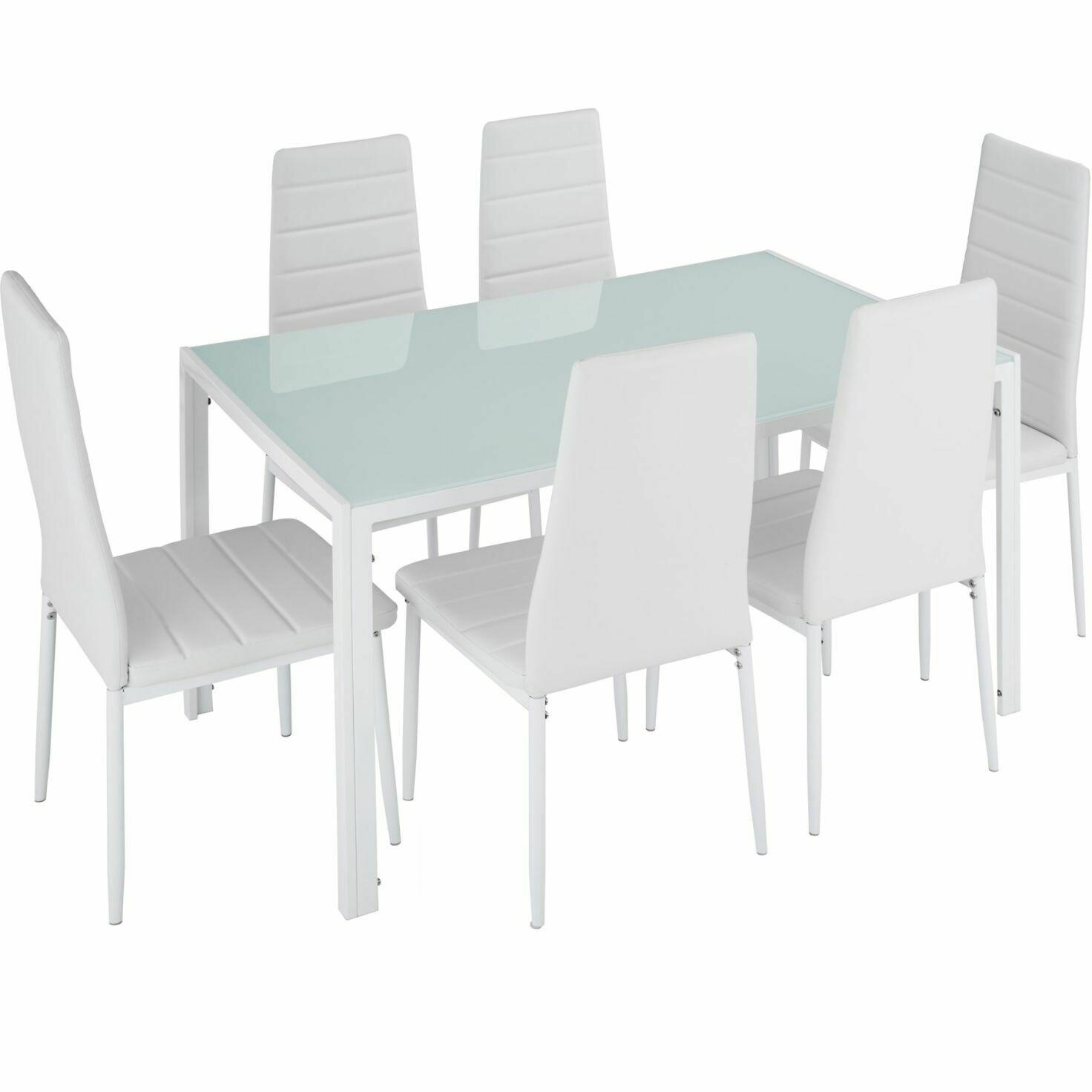 Jedilni SET– Garnitura- Brandenburg -  miza + 6 stolov bela ali črna