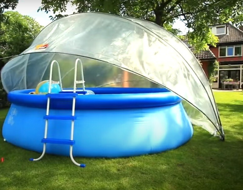 Idealna rešitev – Pokrivalo za bazen »Sunny Šotor« okrogla ali ovalna