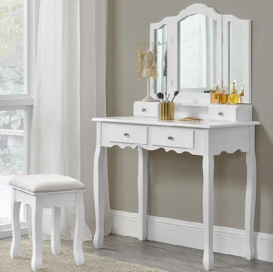 Toaletna mizica« EMMA - bela«