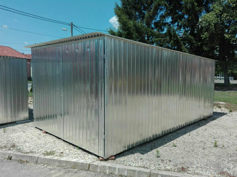 Kovinska vrtna hiška/uta / lopa za orodje/ barva - izbira - mera 2,95 x 5 m