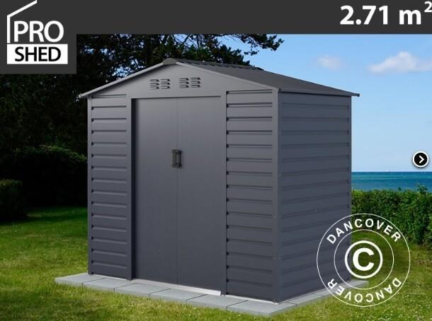 ProShed® - Kovinska uta - lopa – hiška – 2,71m2 - antrazit, siva, zelena