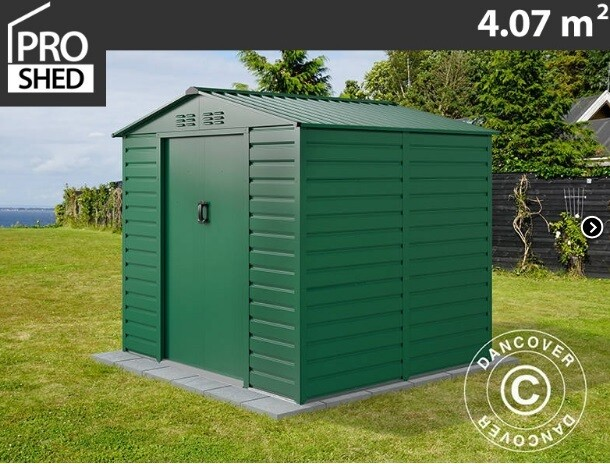 ProShed® - Kovinska uta - lopa – hiška – 4,07 m2 - antrazit, siva, zelena