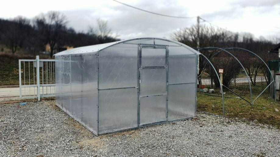 NOVO! Okvir za rastlinjak - Rastlinjak VESNA – LASTNA PROIZVODNJA  stranska višina, polikarbonat po vaši izbiri