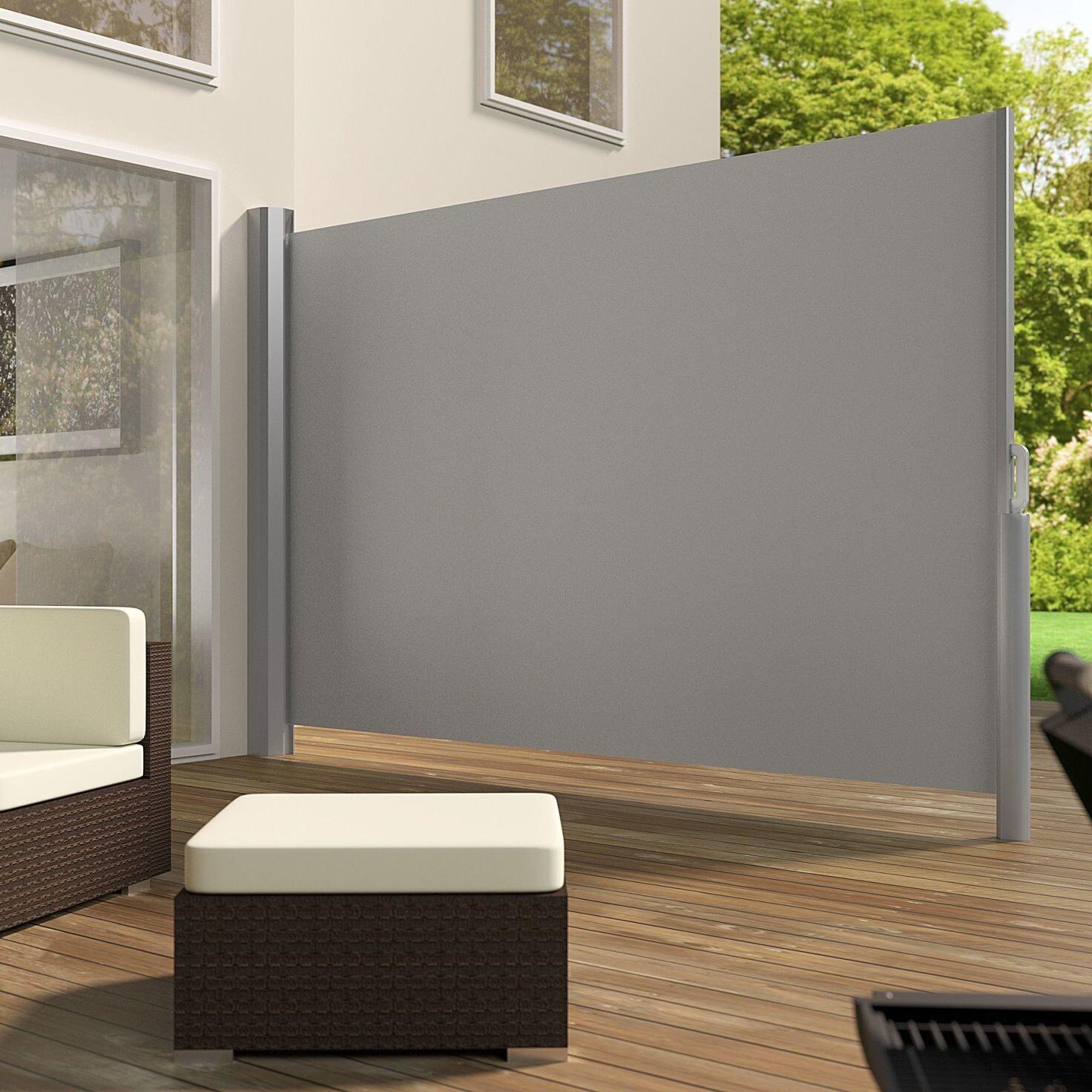 Tenda - Markiza iz aluminija sive barve v 160 cm  (v180, v 200) x d 300 cm