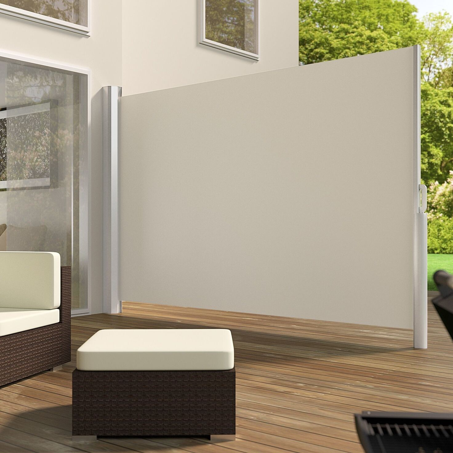 Tenda - Markiza iz aluminija beige barve v 160 cm (v180, v 200) x d 300 cm