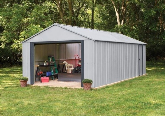Kovinska hiška-garaža-uta-lopa Murryhill 3,7 x 3 m