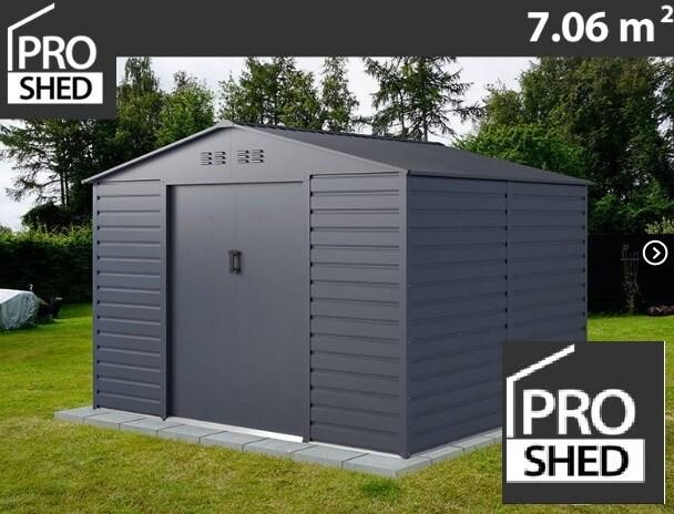 ProShed® - Kovinska uta - lopa – hiška – 7,06 m2 - antrazit, siva,