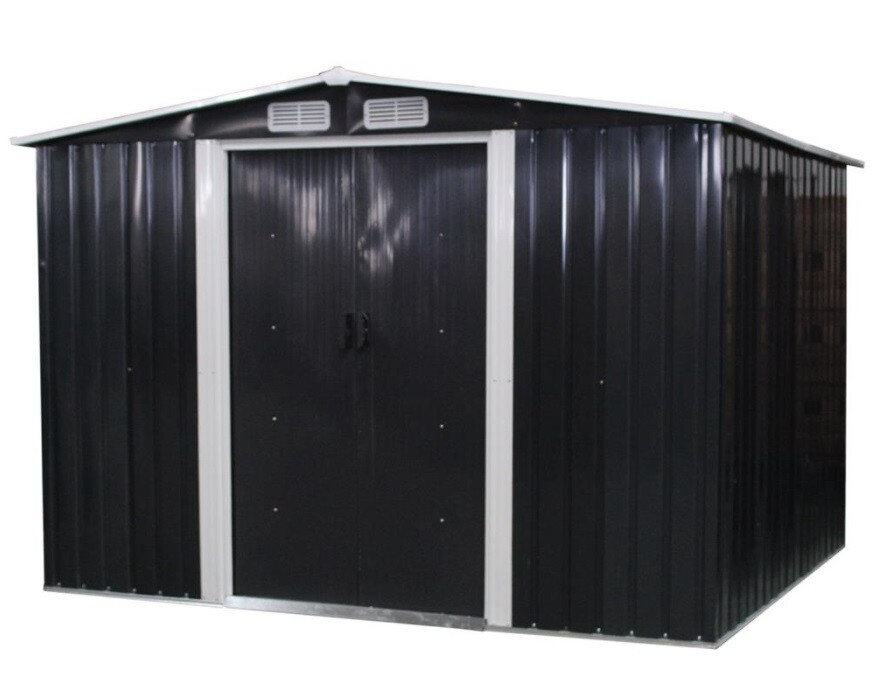 XL Kovinska vrtna hiška, uta, lopa - ANTRAZIT 5 m²