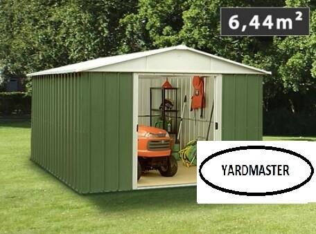 Kovinska vrtna hiška-lopa-uta YARDMASTER 6,44 m² - 0,30 mm pločevina