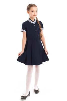 Платье школьное синее (поливискоза) начальная школа