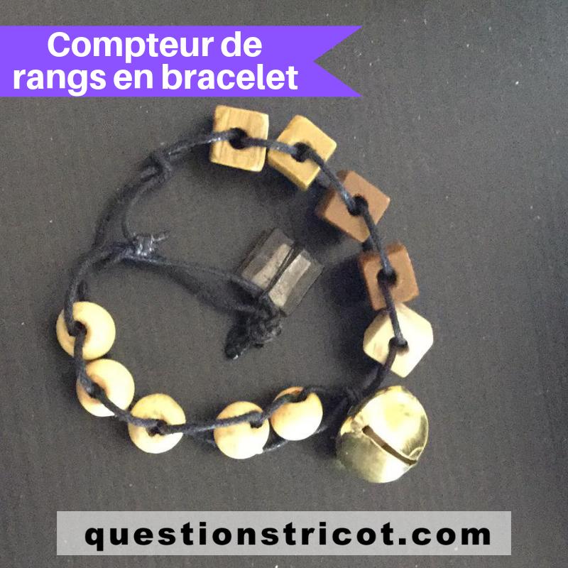 Compteur de rangs bracelet