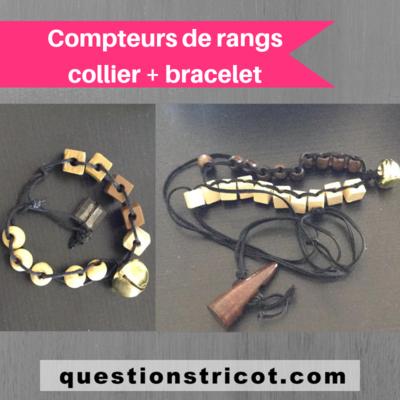 Compteur de rangs collier + bracelet