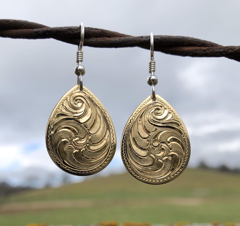Brass Teardrop Earrings