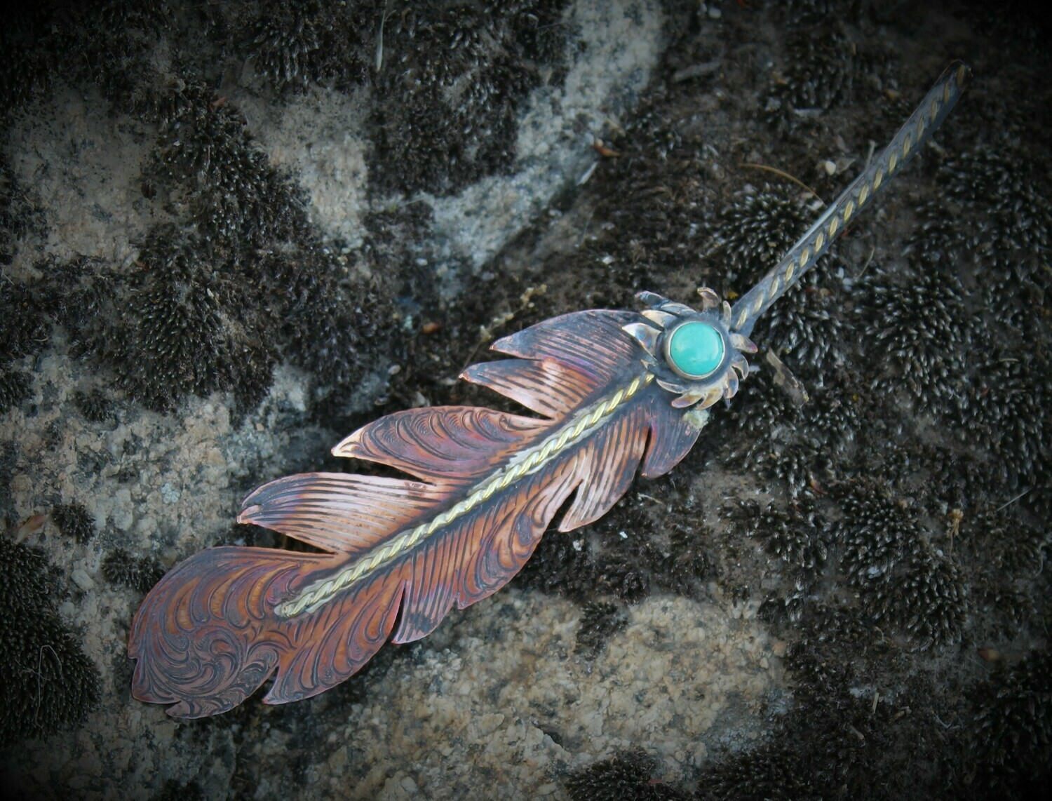Copper feather