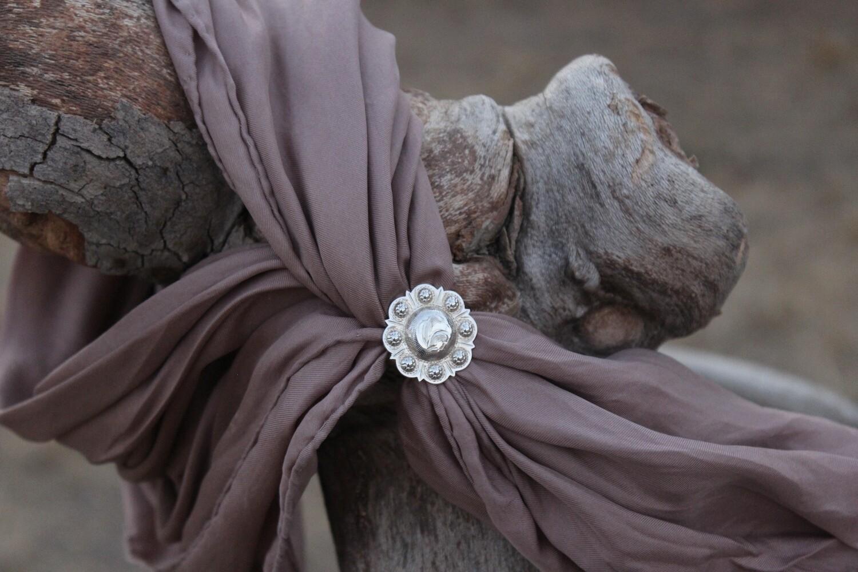 Sterling silver buckaroo scarf slide