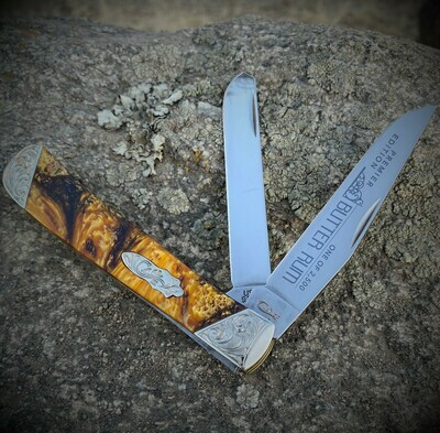 Case Butter Rum Trapper Pocket Knife