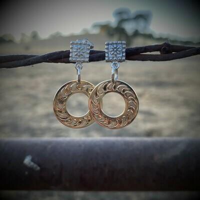 Brass Washer Earrings