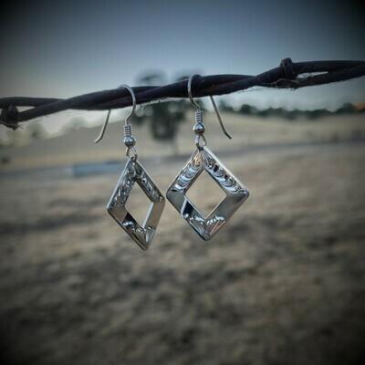 Sterling Silver Diamond Shaped