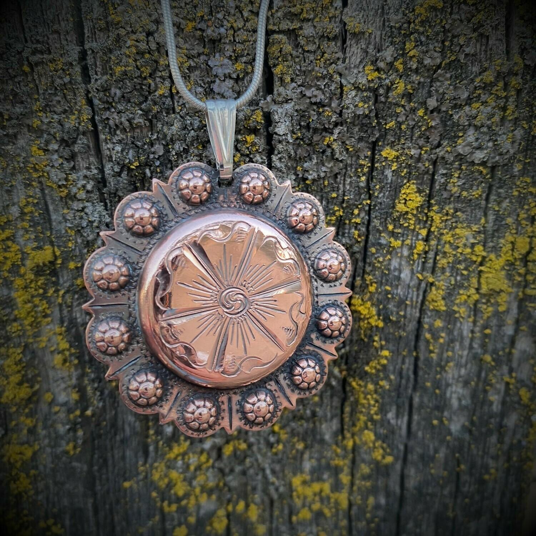 Copper buckaroo pendant