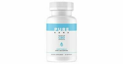 PureKana CBD Capsules 25mg / 30 count