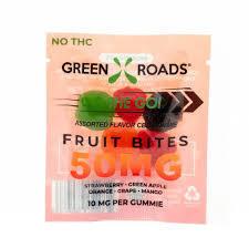 Green Roads On The Go 50mg Fruit Bites