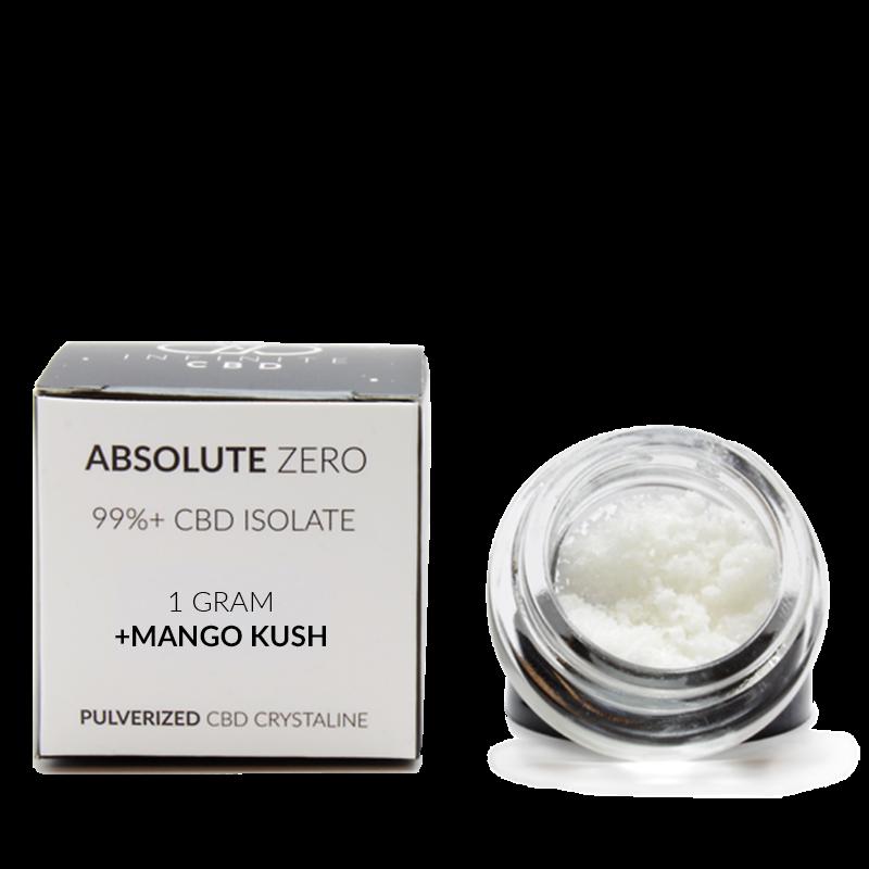 1 gram Absolute Zero CBD Crystaline