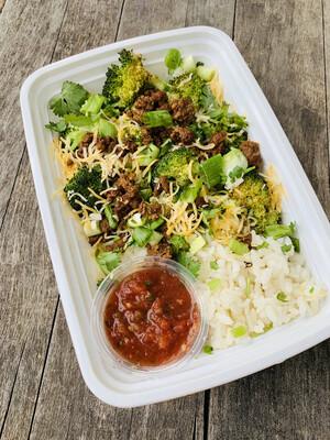 4 oz. Taco Broccoli Bowl
