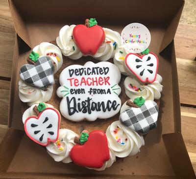 Dedicated Teacher Chocolate Chip Cookie Cake