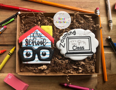 Virtual Learning/Home School (2 Cookie) Set