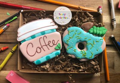 Coffee & Donuts Set (2 Cookies)