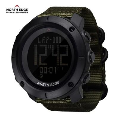 NORTH EDGE World time Men Sport Watch Waterproof 50m Digital Running Swimming Diving watch