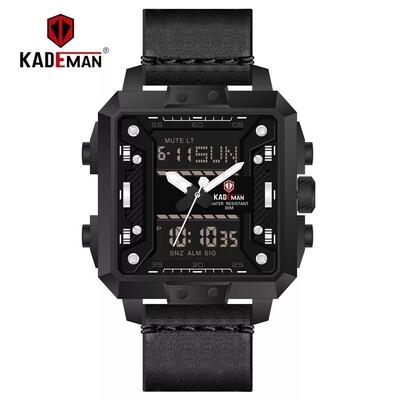 KADEMAN New Square Luxury Dual Display Waterproof Wrist Watch