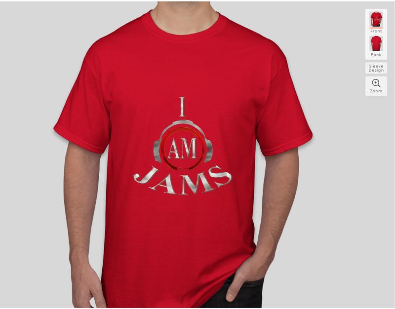 I am jams red shirt