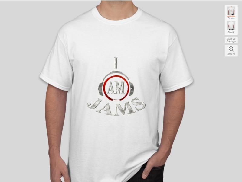 white iam jams t shirt