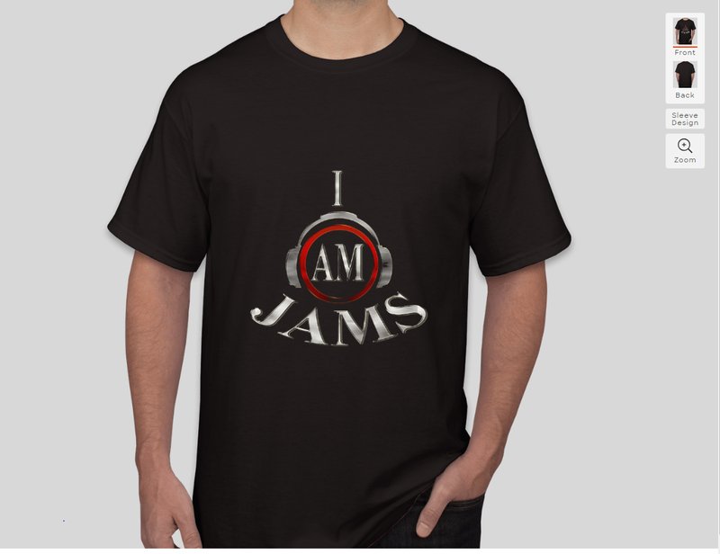 Black Iamjams t shirt