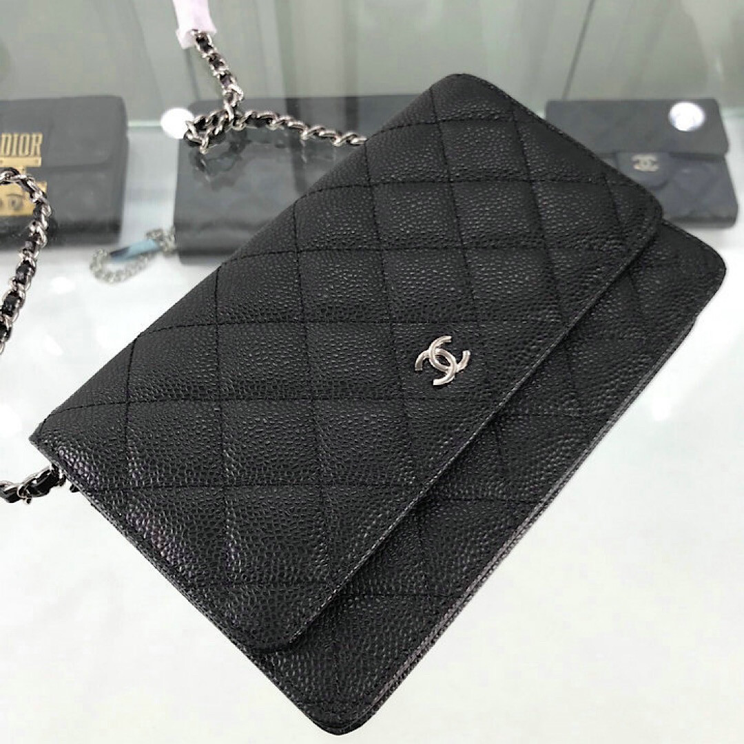 NEW LAMBSKIN BLACK STYLISH PURSE