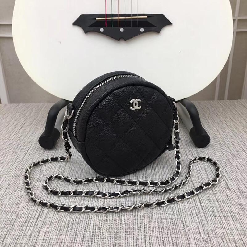 NEW LAMBSKIN SMALL BLACK BAG