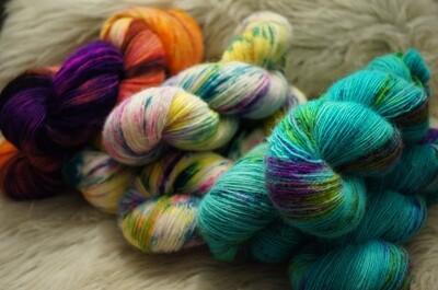 Hand Dyed Super Fine Yarn