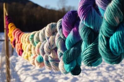 Hand Dyed Bulky Yarn
