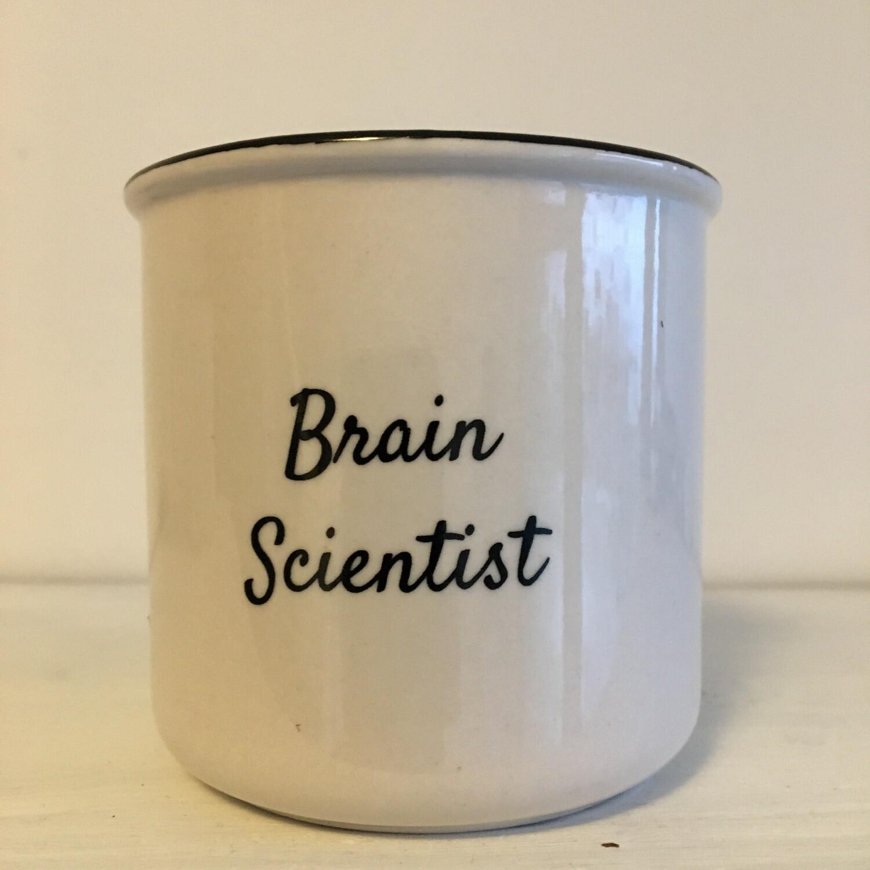 "Thriving Language ""Brain Scientist"" White Ceramic Mug"